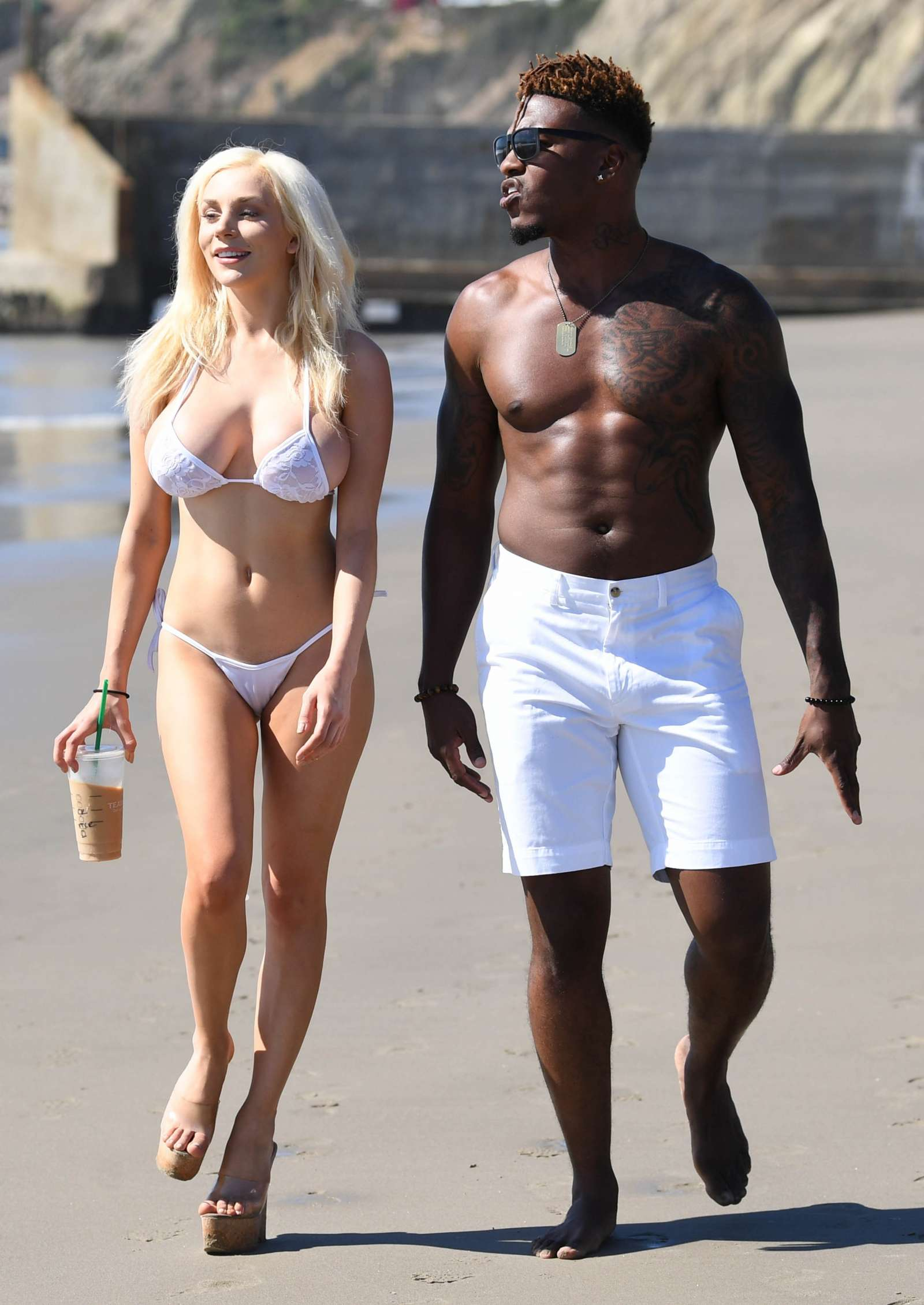 Courtney Stodden in Bikini on the beach in Malibu