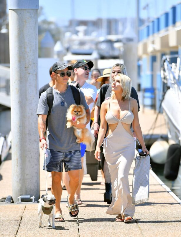 Courtney Stodden - Is given a birthday surprise by her fiancee Chris Sheng in Marina Del Rey