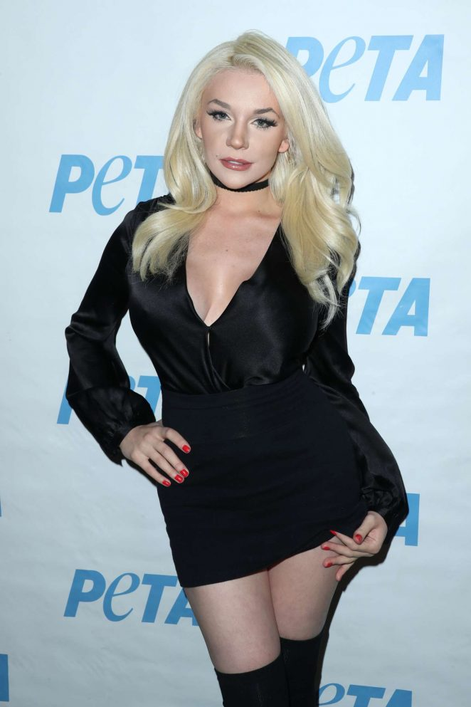 Courtney Stodden - Launch Opening Night of PETA's 'Naked Ambition' Exhibit in LA