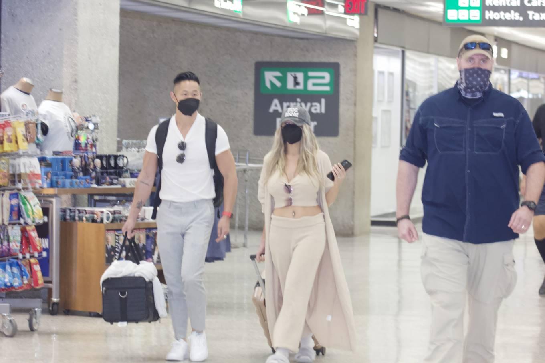 Courtney Stodden 2021 : Courtney Stodden – With Chris Sheng arrive into Washington DC -11