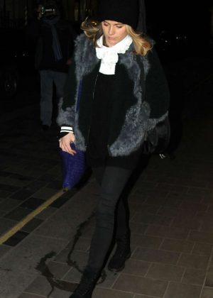 Cressida Bonas in Black - Out in London
