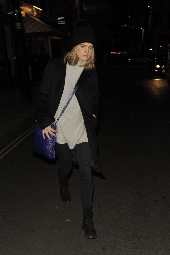 Cressida Bonas - Leaves Jermyn Street Theatre in London