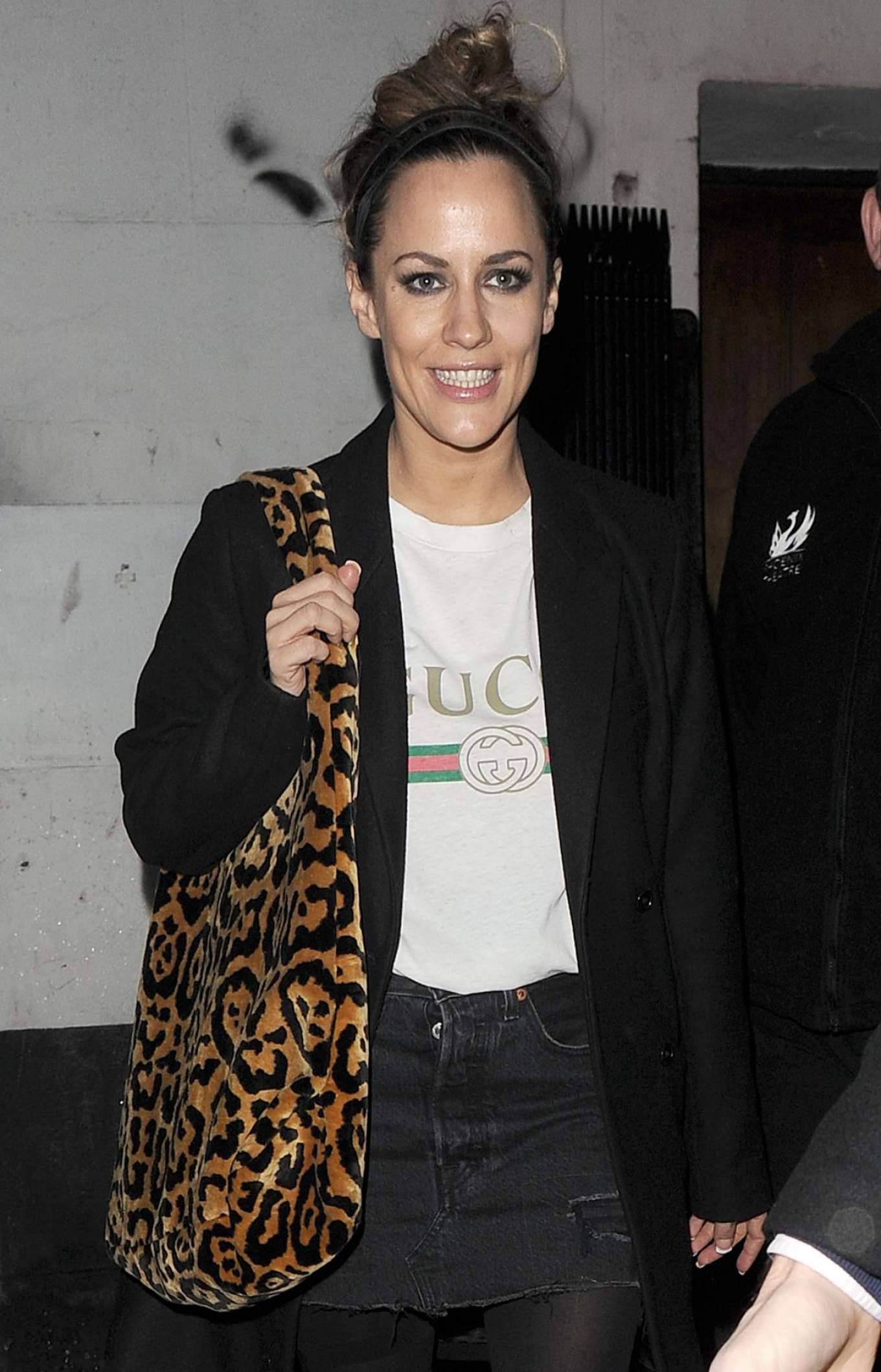 Croline Flack - Leaves 'Chicago' The Musical in London