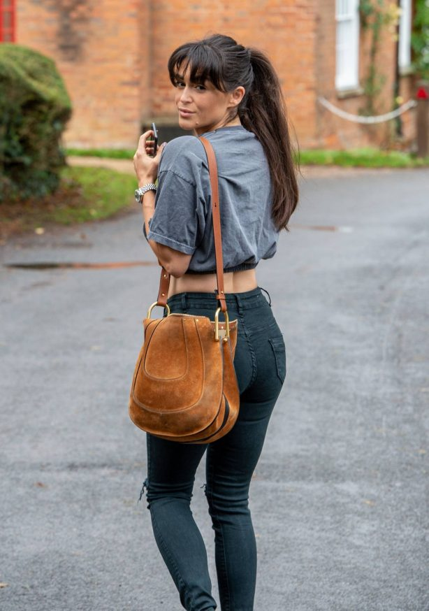 Crop Top - Casey Batchelor is seen out and about in Hertfordshire