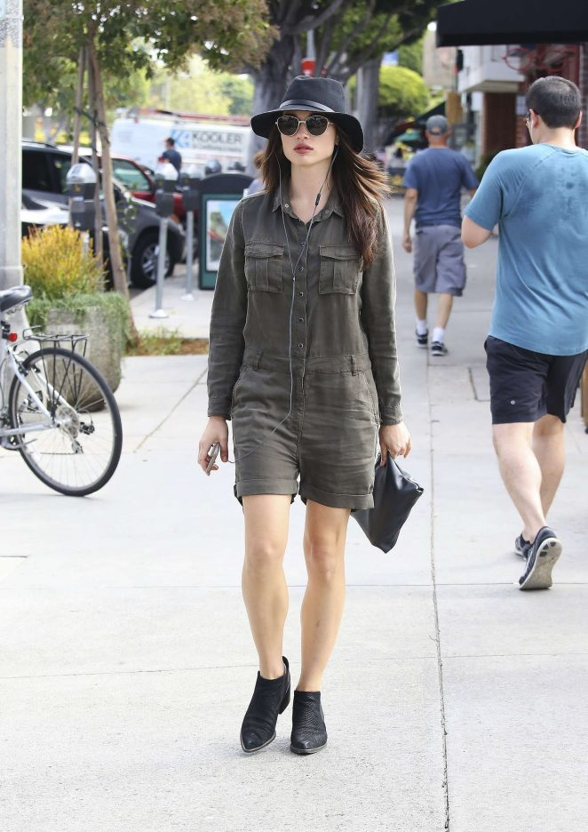 Crystal Reed at a coffee shop -07 - GotCeleb