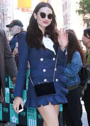 Crystal Reed at AOL Build Speaker Series in New York