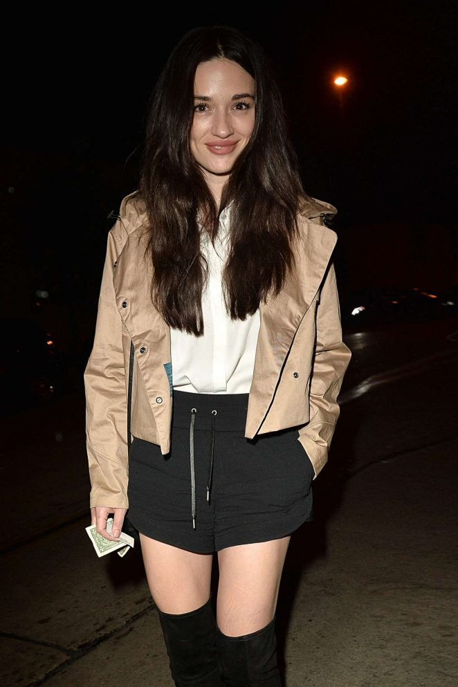Crystal Reed in Mini Skirt at Catch LA in West Hollywood