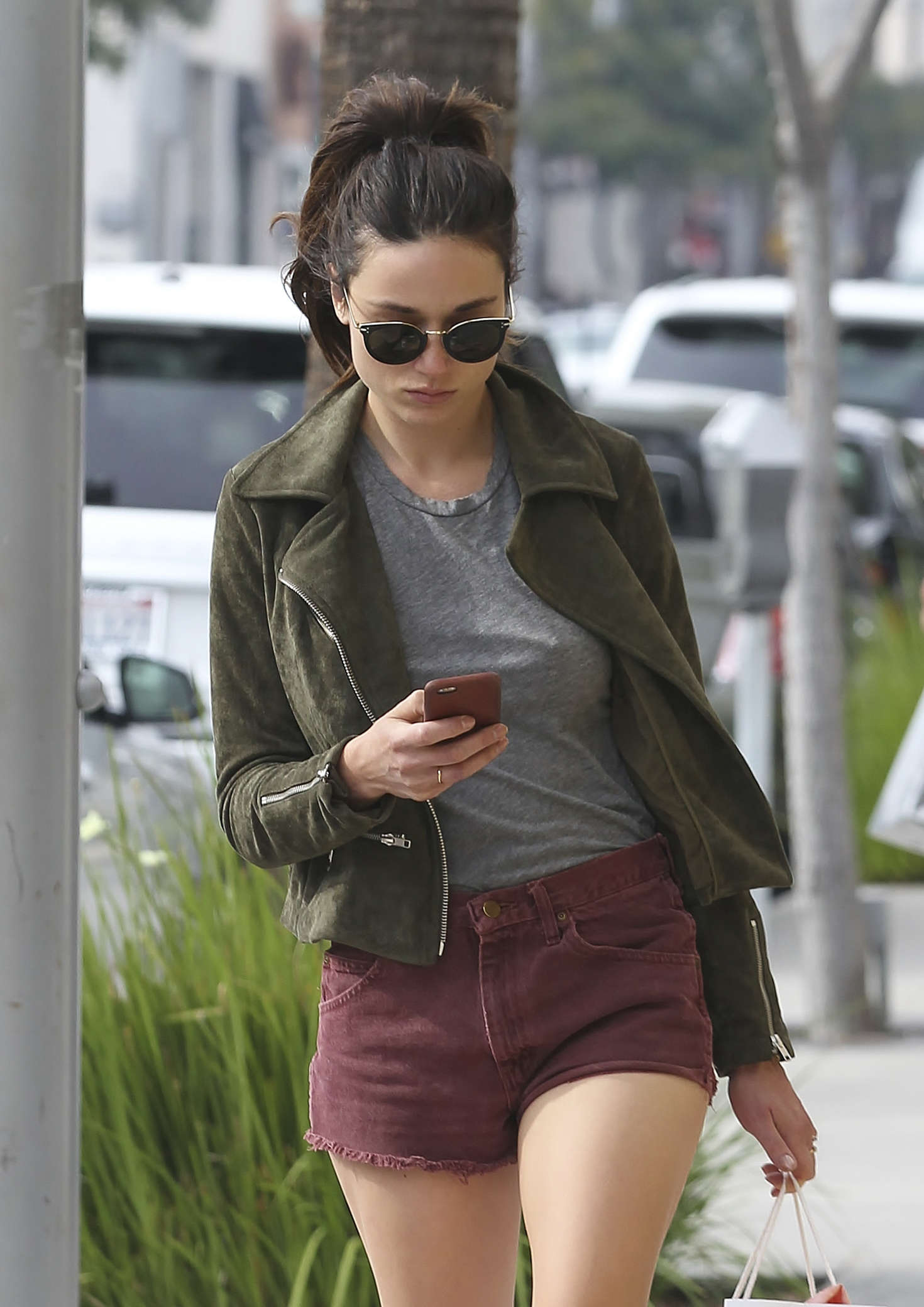 Crystal Reed in Shorts Shopping -08 - GotCeleb