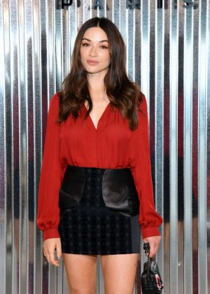 Crystal Reed - Longchamp Fashion Show in NYC