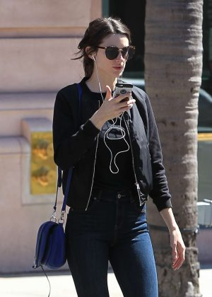 Crystal Reed shopping in Beverly Hills