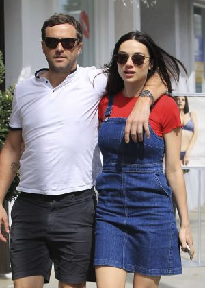 Crystal Reed with boyfriend Darren McMullen shopping in Beverly Hills