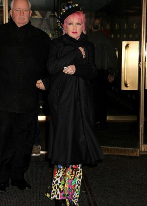 Cyndi Lauper - Leaving 'Access Hollywood Live' in NYC