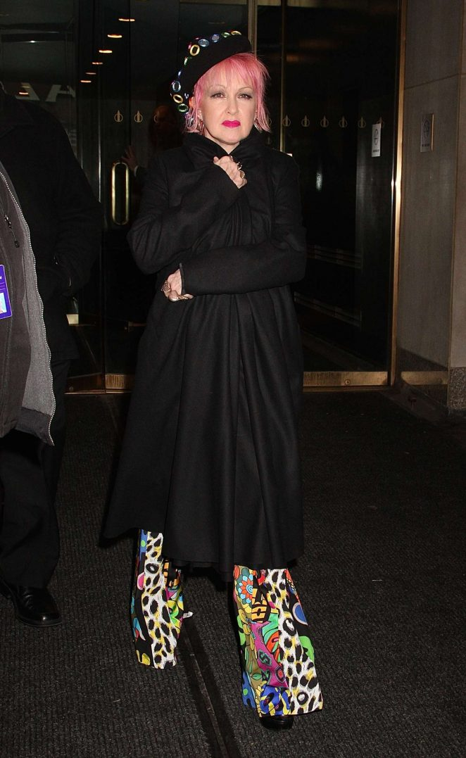 Cyndi Lauper: Leaving Access Hollywood Live -04