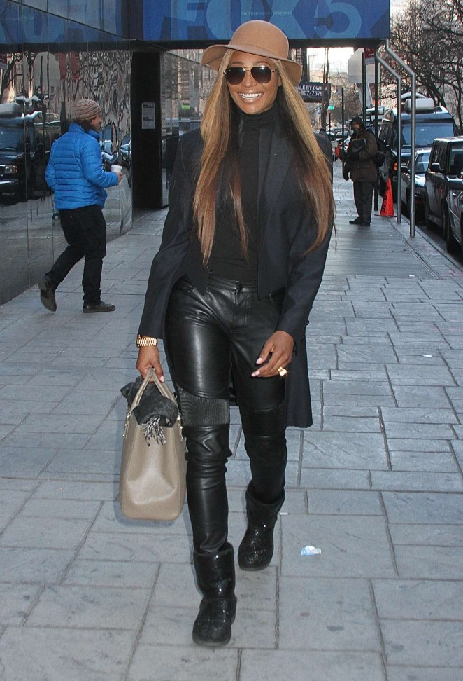 Cynthia Bailey - Leaving 'Good Day New York' in NYC