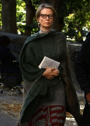 Cynthia Nixon on the set of 'The Only Living Boy' in New York