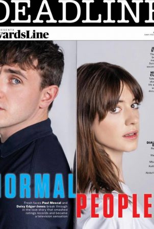 Daisy Edgar-Jones and Paul Mescal - Deadline's AwardsLine Issue (July 2020)