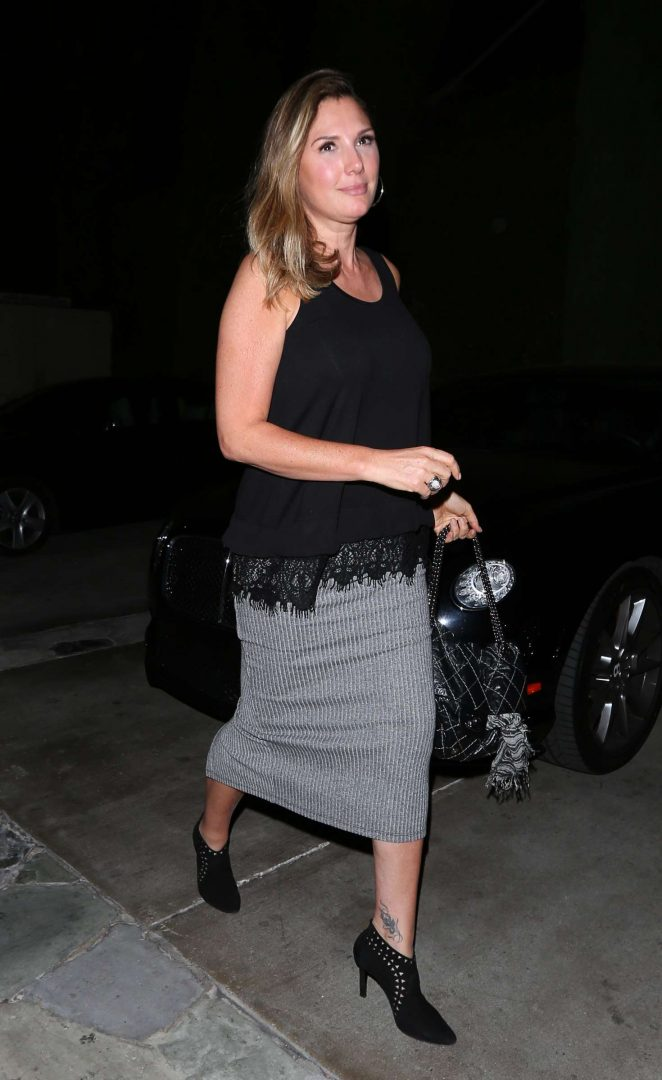 Daisy Fuentes at Ago Restaurant in West Hollywood