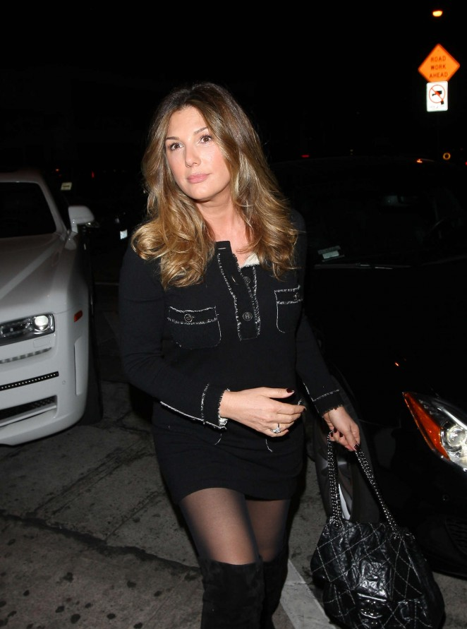 Daisy Fuentes at Craig's Restaurant in West Hollywood