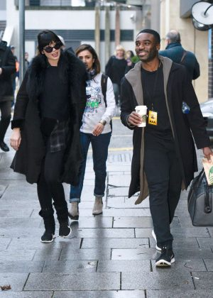Daisy Lowe and Anita Rani - Leaves their hotel in Birmingham