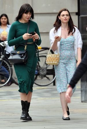 Daisy Lowe and Charli Howard - Out shopping in central London