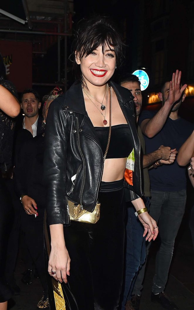 Daisy Lowe and Frankie Bridge night out in Soho