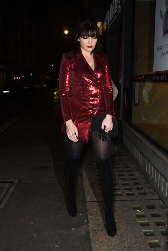 Daisy Lowe - Arrives at Absolute Crackers Christmas Party in London