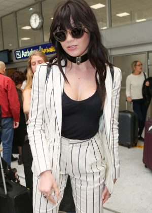 Daisy Lowe Arrives at Nice Airport in Cannes