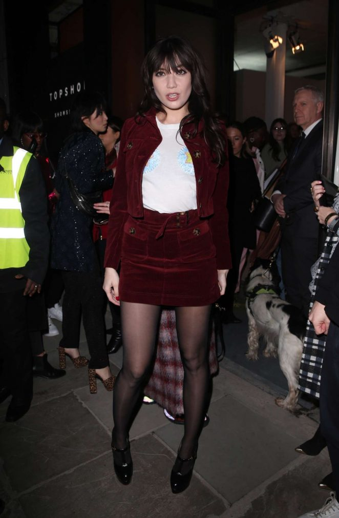 Daisy Lowe - Arrives at the Henry Holland Show in London
