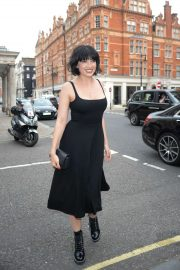 Daisy Lowe - Arriving at Alexa Chung x Bird in Hand Dinner in London