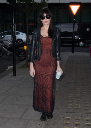 Daisy Lowe Arriving at the Radio 2 studio in London