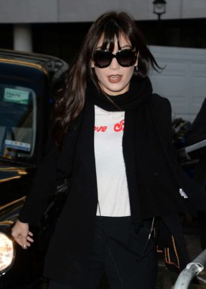 Daisy Lowe at BBC Radio 2 in London