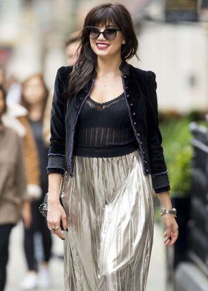 Daisy Lowe at London Fashion Week 2016 in London
