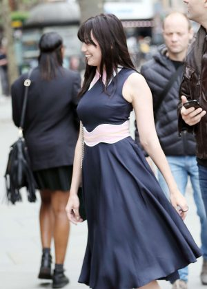Daisy Lowe at National Gallery in London