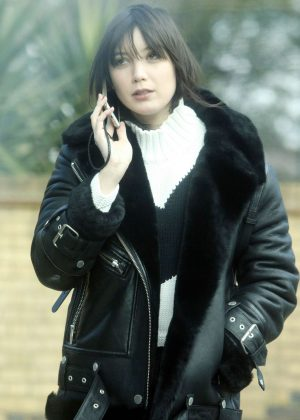 Daisy Lowe - Chatting on her Phone in London
