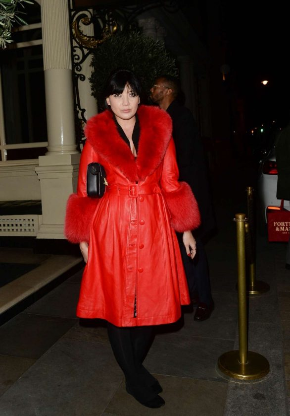 Daisy Lowe - Exiting Rosie Huntington Whiteley Launch in London
