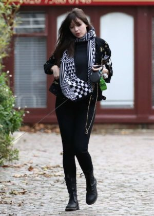 Daisy Lowe in Black - Out in Primrose Hill