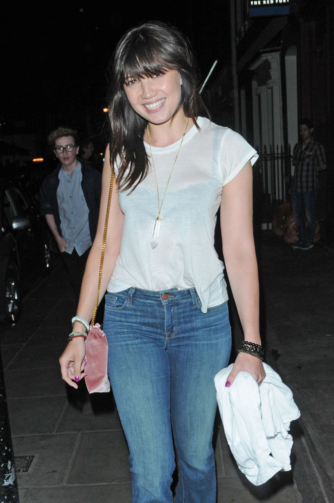 Daisy Lowe in Jeans at Soho House in London