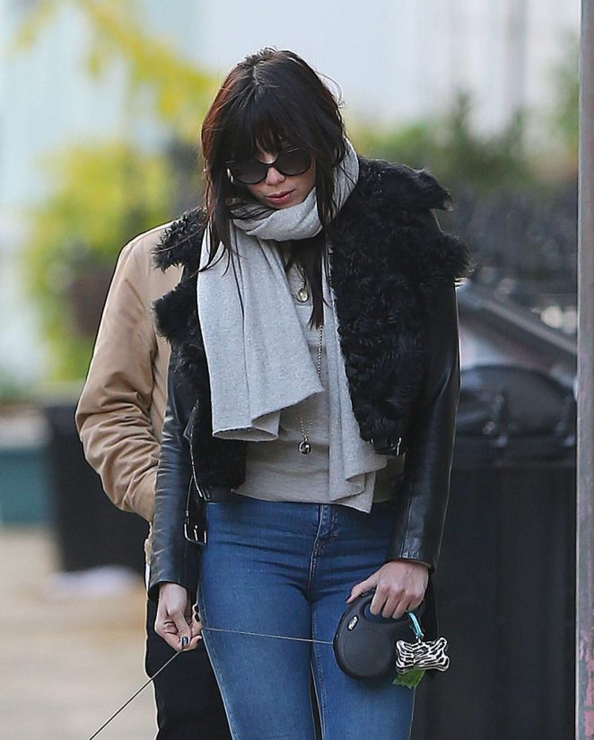 Daisy Lowe in Jeans out and about in London