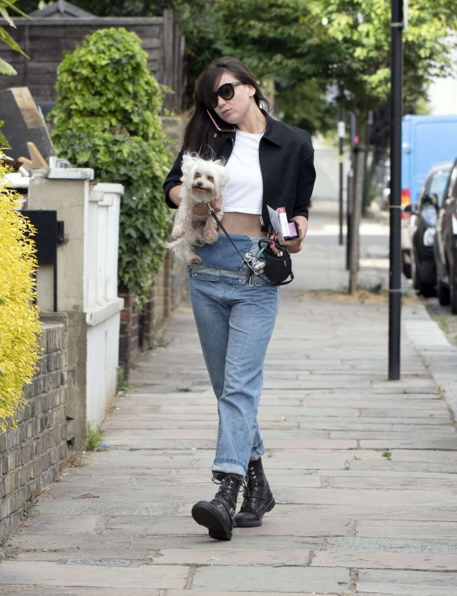 Daisy Lowe in Jeans - Out in London