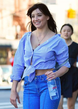 Daisy Lowe in Jeans out in Los Angeles