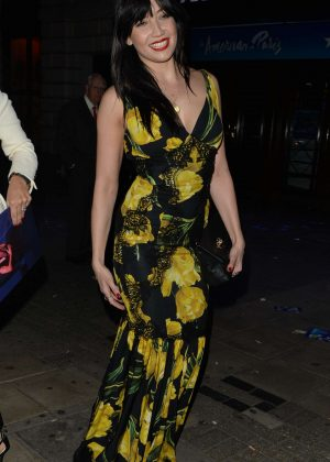 Daisy Lowe in Long Dress out and about in Soho