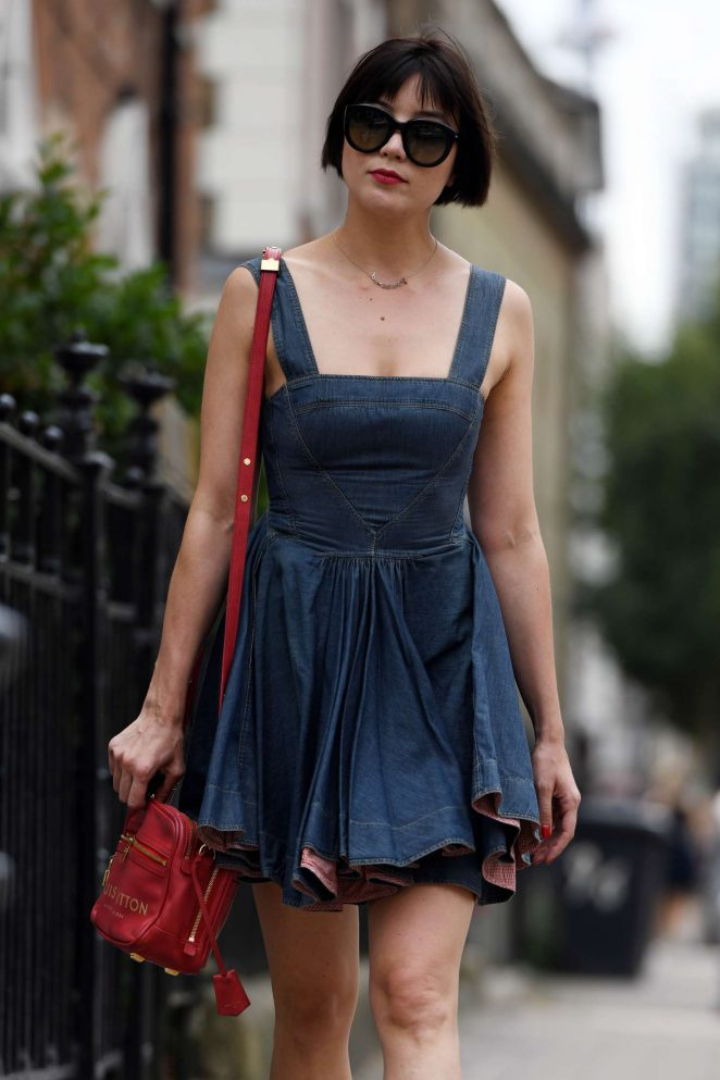 Daisy Lowe in Mini Dress - Out in London