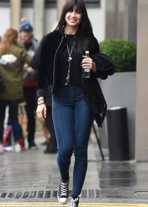 Daisy Lowe in Skinny Jeans out in Birmigham
