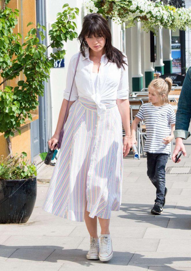 Daisy Lowe in Summer Dress out in London