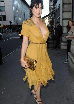 Daisy Lowe in Yellow Dress in London