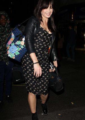 Daisy Lowe - Leaving DSTRKT Nightclub in London