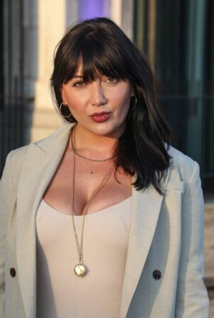 Daisy Lowe - leaving for the British Takeaway Awards at Old Billingsgate in London