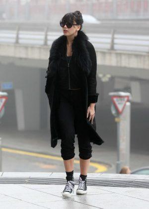 Daisy Lowe - Leaving her hotel in Birmingham