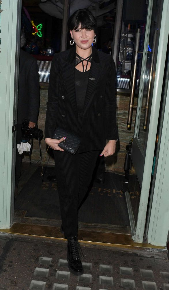 Daisy Lowe - Leaving Sexy Fish Restaurant in London