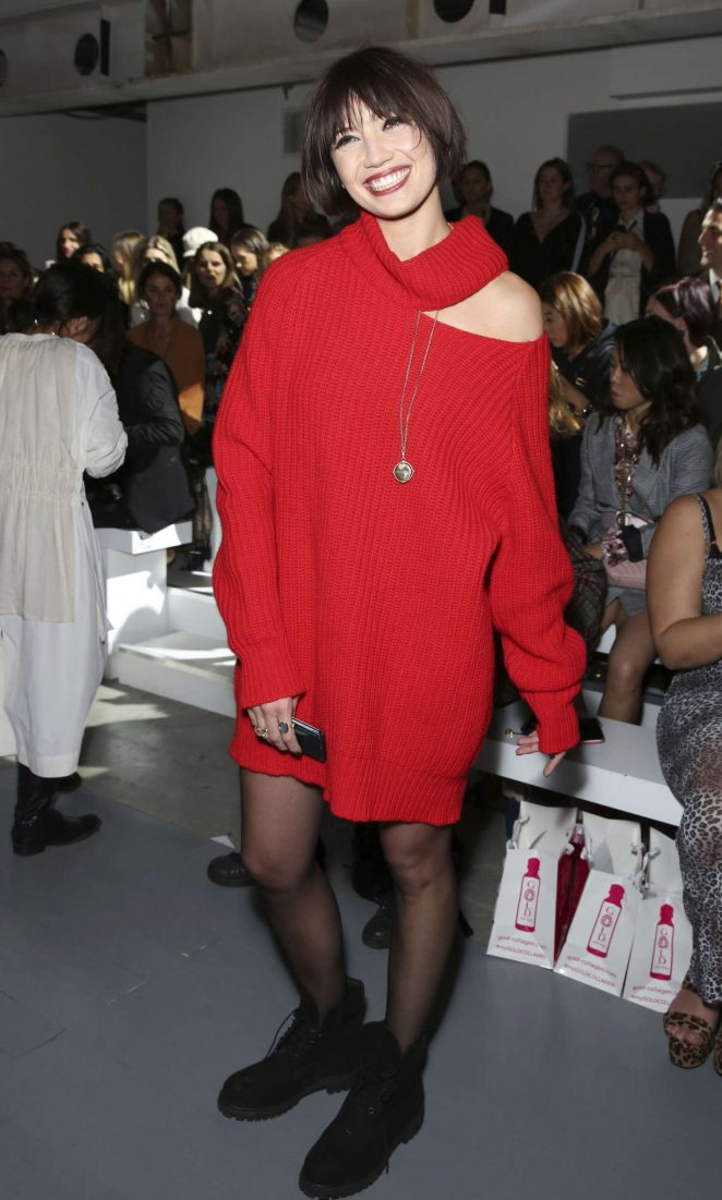 Daisy Lowe - Marta Jakubowski Fashion Show in London